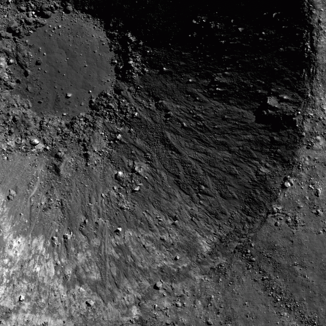 picture of a complex crater on the moon