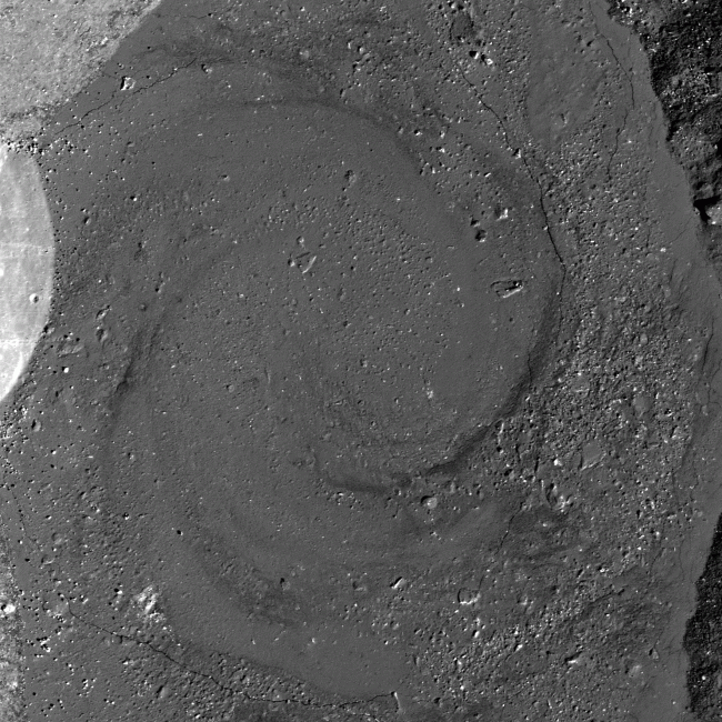 picture of the giordano bruno crater on the moon