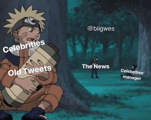 Cartoon - @biigwes Celebrities The News Celebrities Old Tweets manager