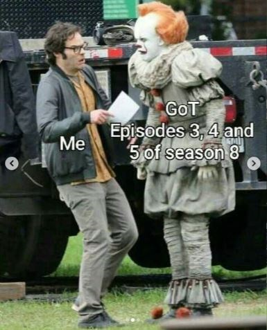 Footwear - GoT Episodes 3,4 and 5of season 8 Me r