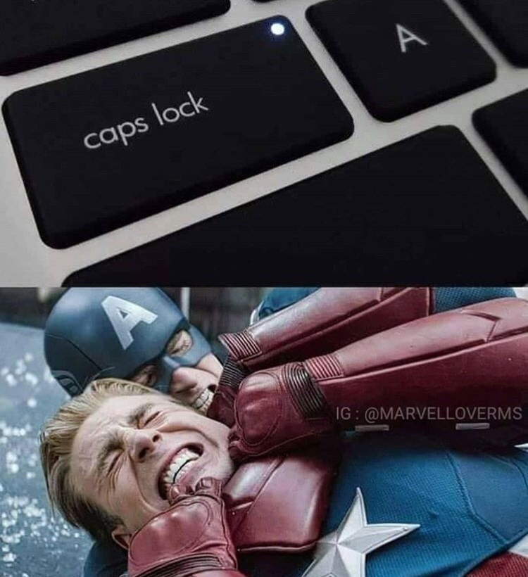 Technology - A caps lock IG @MARVELLOVERMS