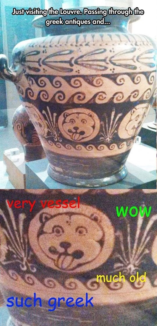 Ceramic - Justvisifing the Louvre. Passing through the greek antiques and... Very essel woW much old G such greek