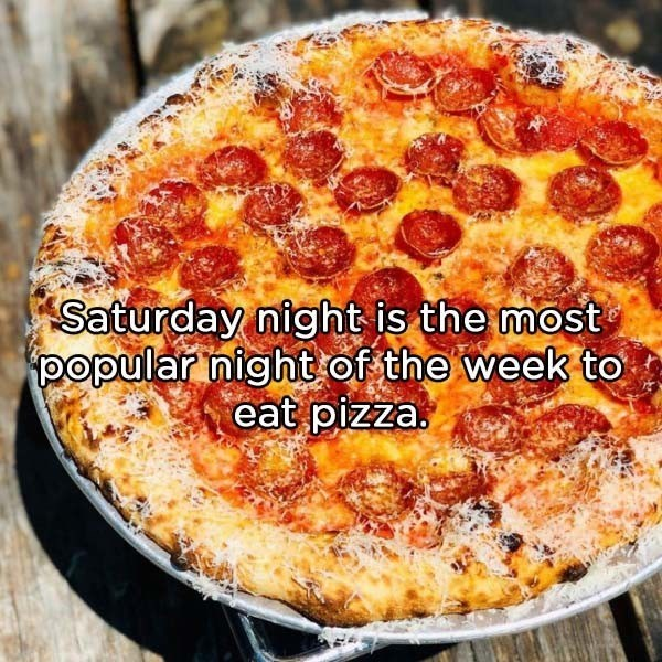 Dish - Saturday night is the most popular night of the week to eat pizza