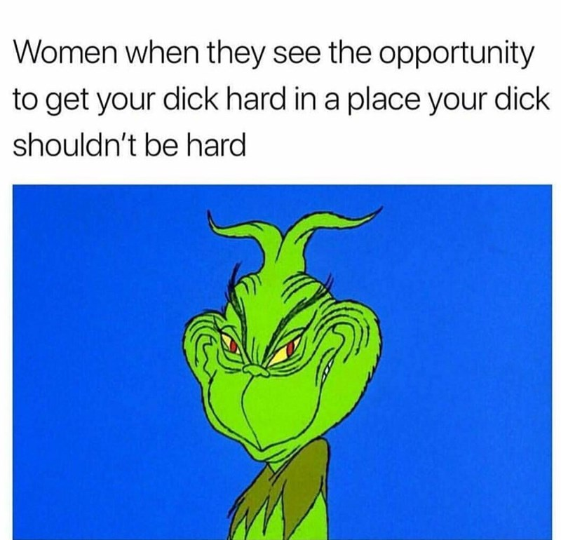 relationship meme - Text - Women when they see the opportunity to get your dick hard in a place your dick shouldn't be hard