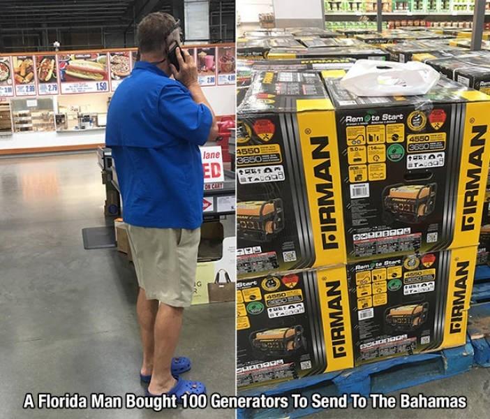 Retail - 2 29927 1.50 Rem te Start lane 4550 3650 4550 36 ED STALOGE s CAT Rem@te Gtard IG R Start 4sso 4550 A Florida Man Bought 100 Generators To Send To The Bahamas FIRMAN FIRMAN FIRMAN FIRMAN