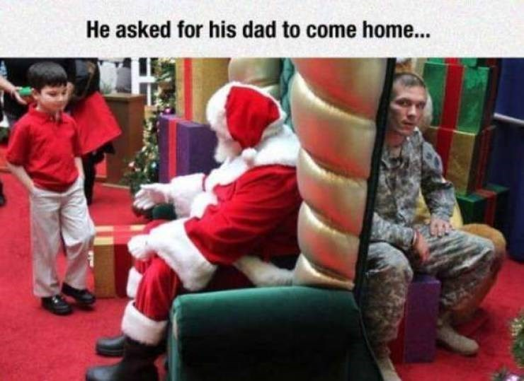 Santa claus - He asked for his dad to come home...