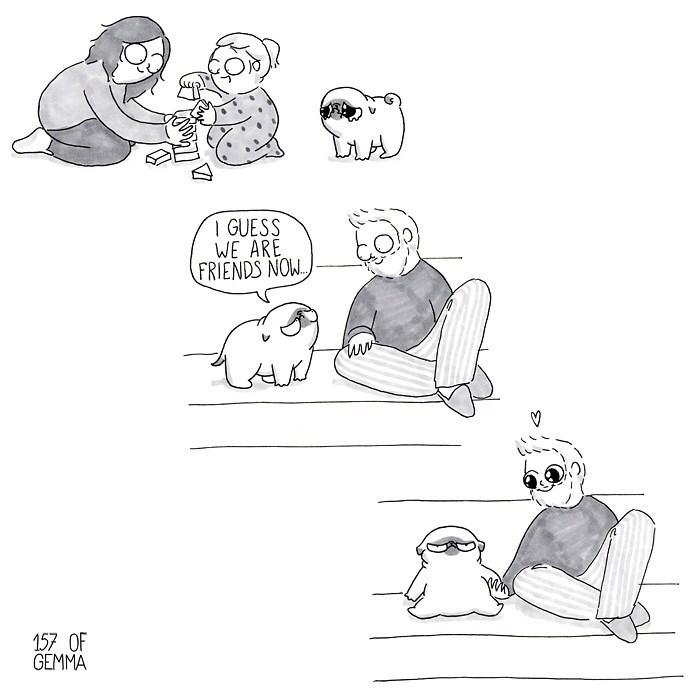 Cartoon - DLA I GUESS WE ARE FRIENDS NOW V 157 OF GEMMA