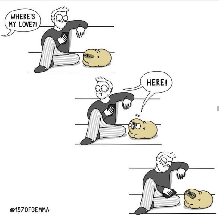 Cartoon - WHERE'S MY LOVE? HERE! @1570FGEMMA