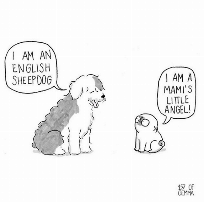 Cartoon - I AM AN ENGLISH SHEEPDOG I AM A MAMI'S LITTLE ANGEL! 157 OF GEMMA
