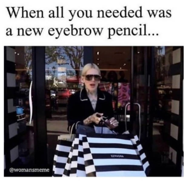 Photograph - When all you needed was a new eyebrow pencil... @womansmeme