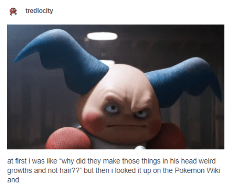 "Animation - tredlocity at first i was like ""why did they make those things in his head weird growths and not hair??"" but then i looked it up on the Pokemon Wiki and"
