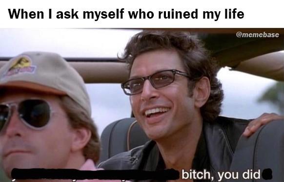 Eyewear - When I ask myself who ruined my life @memebase bitch, you did