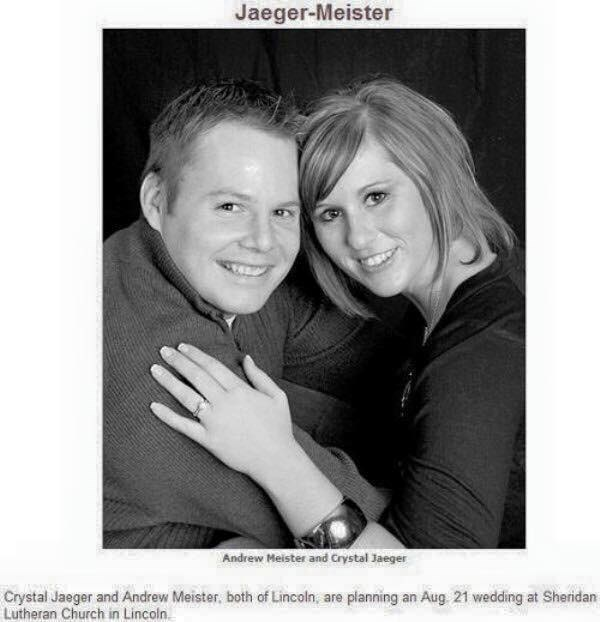 Photograph - Jaeger-Meister Andrew Meister and Crystal Jaeger Crystal Jaeger and Andrew Meister. both of Lincoln, are planning an Aug 21 wedding at Sheridan Lutheran Church in Lincoln.