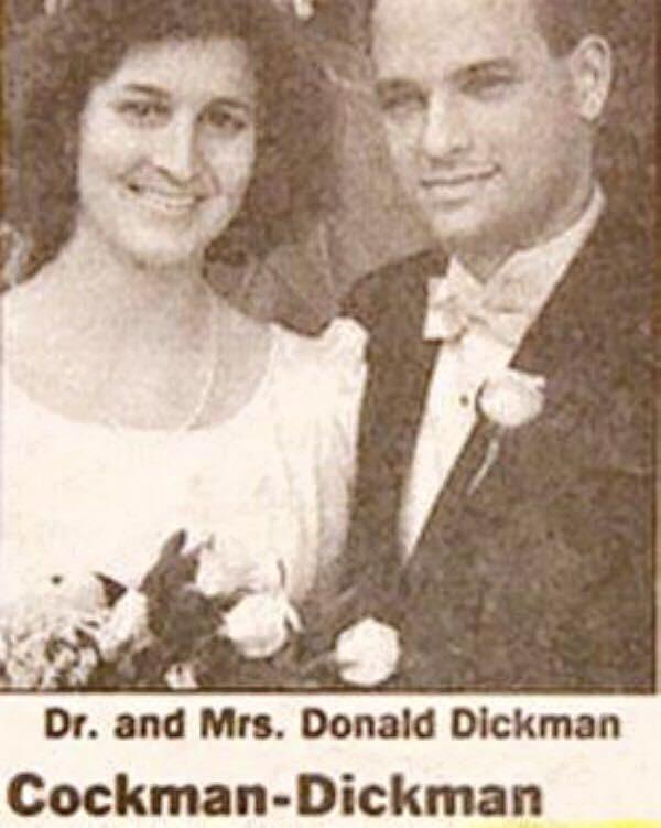 Photograph - Dr. and Mrs. Donald Dickman Cockman-Dickman