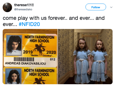 """Text - therese1!!! Follow @theresediako come play with us forever.. and eve... and ever... #NFID20 NORTH FARMINGTON HIGH SCHOOL 2019 """"Raider 1/Country 2020 012 ANDREAS DIAKOVASILIOU NORTH FARMINGTON HIGH SCHOOL"""