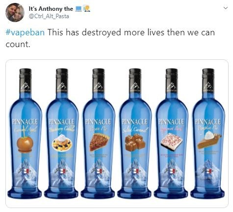 Text - Bottle - It's Anthony the @Ctrl_Alt Pasta #vapeban This has destroyed more lives then we can count PINNACLE PINAACIE PINNACIE PINNACIE PINNACIEINNACIE SC Culle