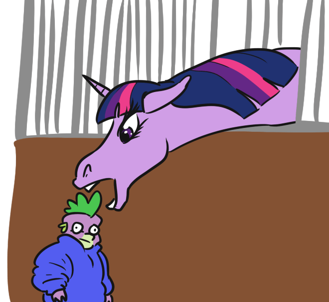 spike jargwell prescott twilight sparkle ponify acting like animals - 9358886912
