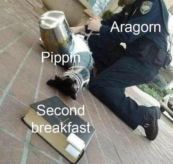 Human - Aragorn Pippin Second breakfast
