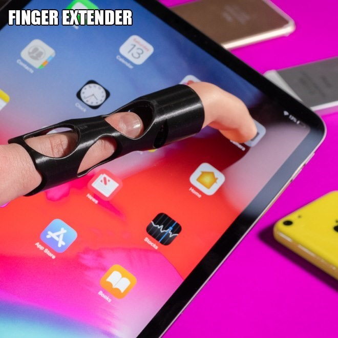 Pink - 13 Cas FINGER EXTENDER Coc Home Stocks App Store Books