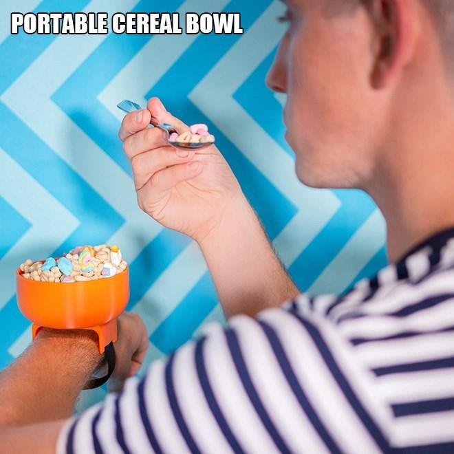 Junk food - PORTABLE CEREAL BOWL