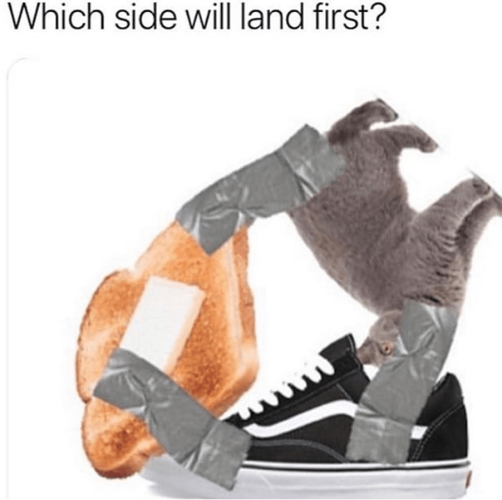 Footwear - Which side will land first?