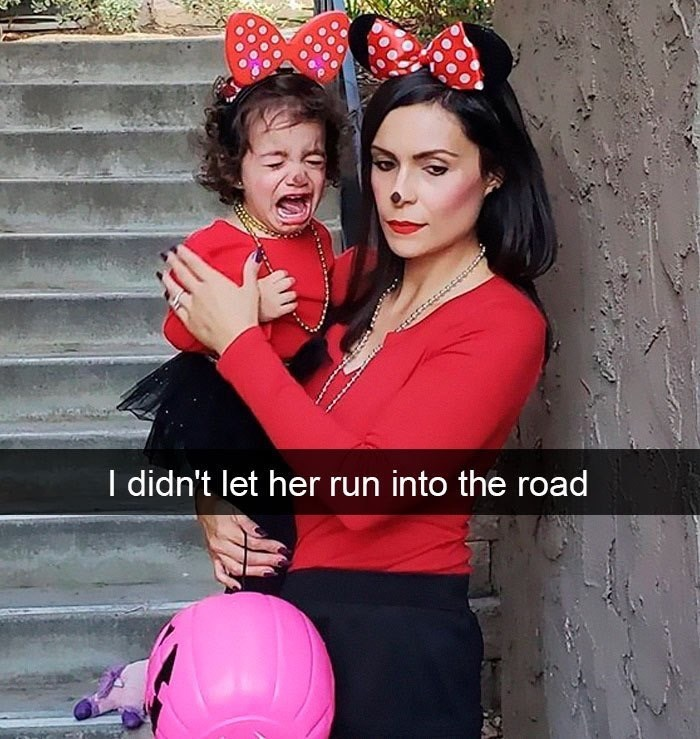 Red - I didn't let her run into the road