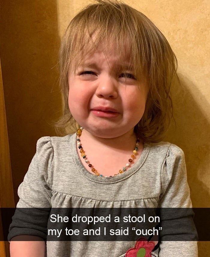"""Hair - She dropped a stool on my toe and I said """"ouch"""""""