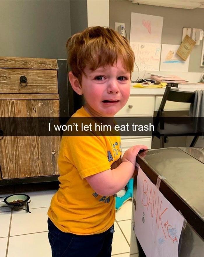Shoulder - I won't let him eat trash