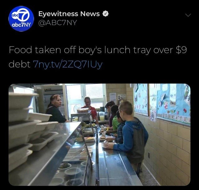 Technology - Eyewitness News abc abc7NY ABC7NY Food taken off boy's lunch tray over $9 debt 7ny.tv/2ZQ7IUy