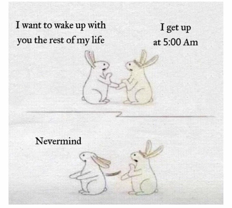 Hare - I want to wake up with I get up you the rest of my life at 5:00 Am Nevermind