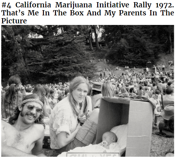 Photograph - #4 California Marijuana Initiative Rally 1972 That's Me In The Box And My Parents In The Picture