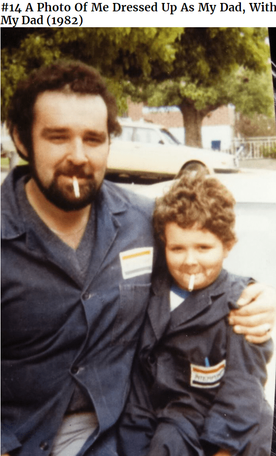 People - #14 A Photo Of Me Dressed Up As My Dad, With My Dad (1982) NT