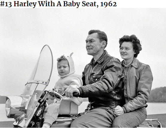 Vehicle - #13 Harley With A Baby Seat, 1962 ME