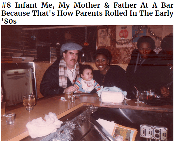 Photo caption - #8 Infant Me, My Mother & Father At A Bar Because That's How Parents Rolled In The Early 80s HELP STOP chePoe b