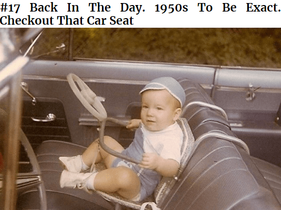 Vehicle door - #17 Вack In The Day. 1950s Tо Be Exact. Checkout That Car Seat