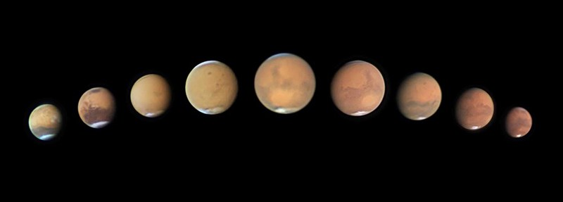 photo of stages of a planet