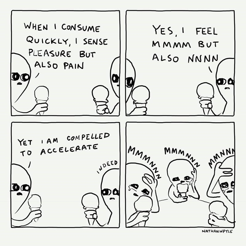 Text - WHENI CONSUME YES,FEEL QUICKLY, I SENSE MMMM BUT PLEASURE BUT ALSO NNNN, ALSO PAIN COMPELLED I AM YET MMMNNN MMMNNN TO ACCELERATE MMNNY DEED NATHAN WPYLE