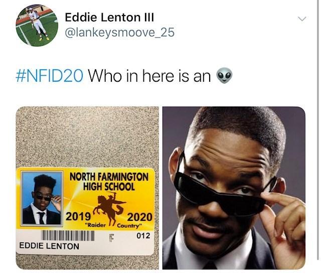 "Hair - Eddie Lenton III @lankeysmoove_25 #NFID20 Who in here is an NORTH FARMINGTON HIGH SCHOOL 2020 Country"" 2019 ""Raider 012 EDDIE LENTON"