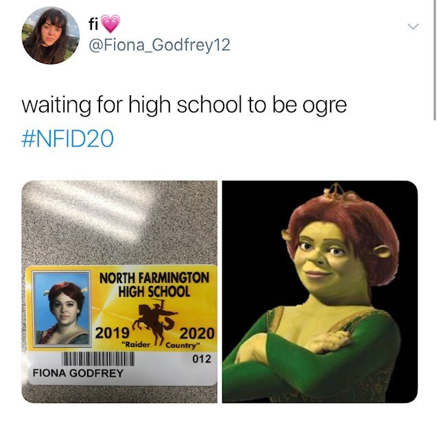 "Face - fi @Fiona_Godfrey12 waiting for high school to be ogre #NFID20 NORTH FARMINGTON HIGH SCHOOL 2019 2020 Country"" ""Raider 012 FIONA GODFREY"