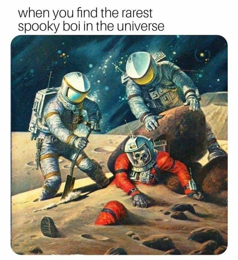 Astronaut - when you find the rarest spooky boi in the universe