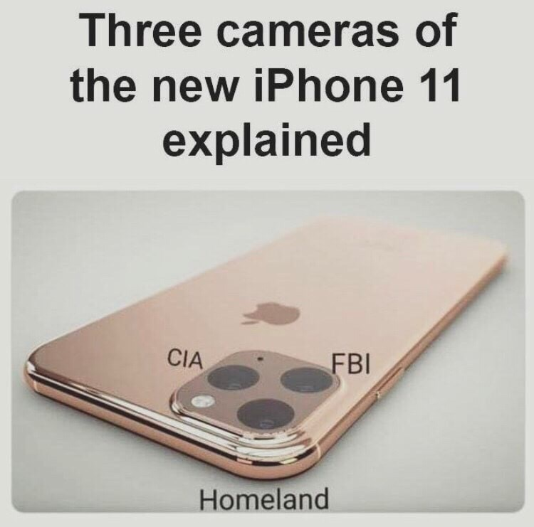 Technology - Three cameras of the new iPhone 11 explained CIA FBI Homeland