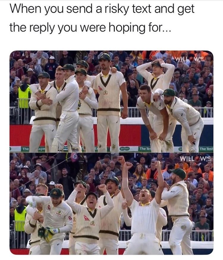Photograph - When you send a risky text and get the reply you were hoping for... WILL WI The The Te The Test Expe wees WILL W LIVE