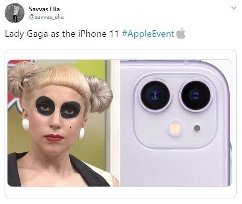 Face - Savvas Elia @savvas elia Lady Gaga as the iPhone 11 #AppleEvent