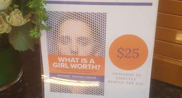Text - $25 WHAT IS A GIRL WORTH? PROCEEDS TO DIRECTLY BENEFIT THE CAC. RACHAEL DENHOLLANDER