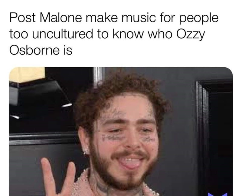 hater meme - Hair - Post Malone make music for people too uncultured to know who Ozzy Osborne is
