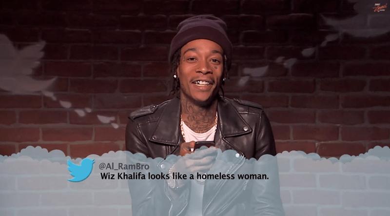 Fun - @AL RamBro Wiz Khalifa looks like a homeless woman.