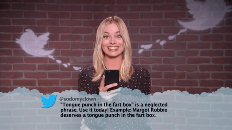 "Facial expression - @sodomyclown ""Tongue punch in the fart box"" is a neglected phrase. Use it today! Example: Margot Robbie deserves a tongue punch in the fart box."