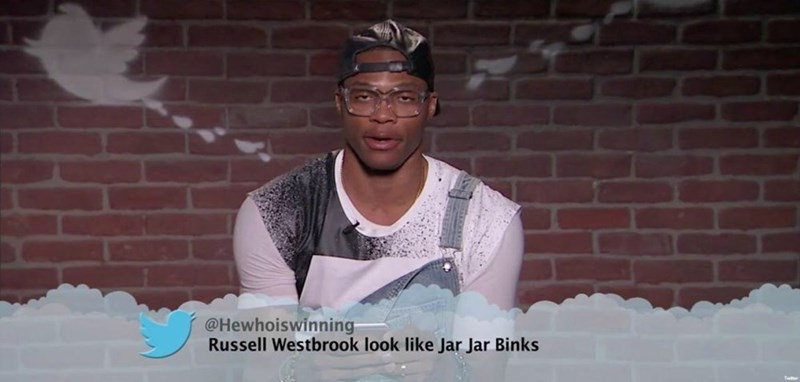 Cool - @Hewhoiswinning Russell Westbrook look like Jar Jar Binks