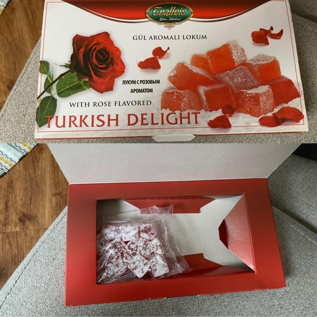 Turkish delight - Gralleis GÜL AROMALI LOKUM ЛУКУМ С РОЗОВЫМ APOMATOM WITH ROSE FLAVORED TURKISH DELIGHT