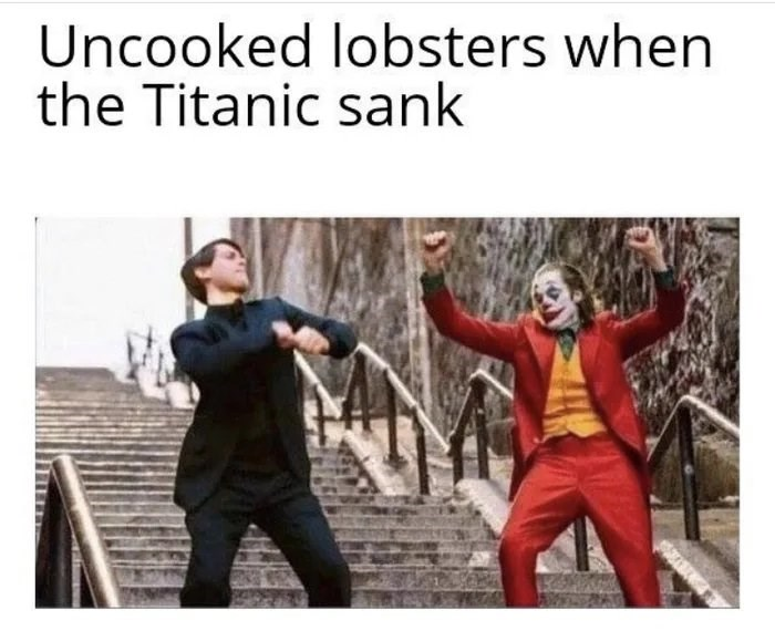 Photo caption - Uncooked lobsters when the Titanic sank